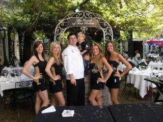 Executive Chef Chad Penedo, Son & Saintsations in Courtyard